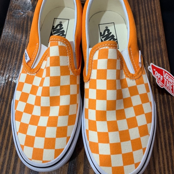 Vans Shoes | Nwt Vans Orange And White